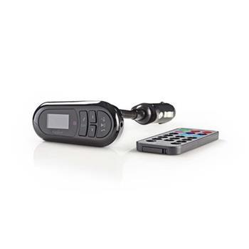 Nedis CATR100BK - FM Transmitter do auta | Bluetooth® | Slot na Karty microSD | Volání Handsfree