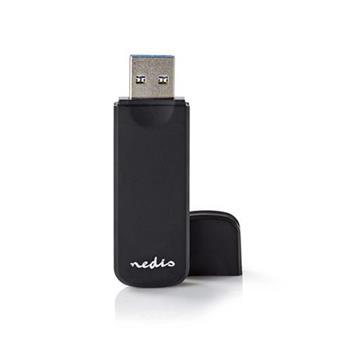 Nedis CRDRU3100BK - Čtečka karet SDXC/microSDXC | Více karet | USB 3.0 | 5 Gbps