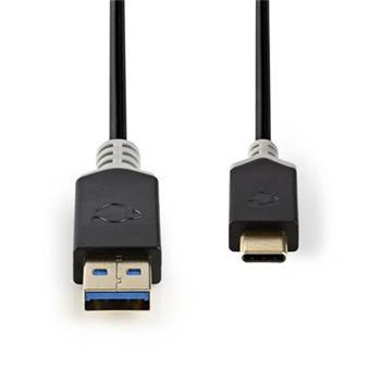 Nedis CCBP61600AT10 - Kabel USB 3.1 | Typ-C Zástrčka - A Zástrčka | 1 m | Antracit