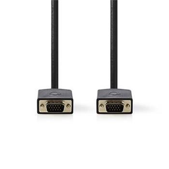 Nedis CCBW59000AT100 - Kabel VGA | VGA Zástrčka - VGA Zástrčka | 10 m | Antracit