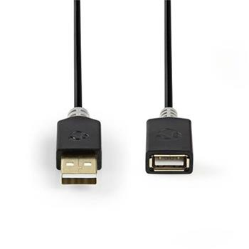 Nedis CCBW60010AT20 - USB 2.0 kabel   A Zástrčka - A Zásuvka   2 m   Antracit