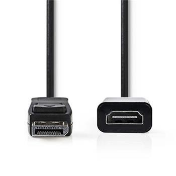 Nedis CCGP37150BK02 - DisplayPort – HDMI™ Kabel | DisplayPort Zástrčka - HDMI™ výstup | 0,2 m | Černá barva