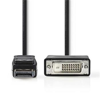 Nedis CCGP37200BK10 - DisplayPort – DVI Kabel | DisplayPort Zástrčka - DVI-D 24+1-Pin Zástrčka | 1 m | Černá barva