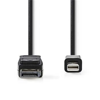 Nedis CCGP37400BK20 - Mini DisplayPort – DisplayPort Kabel | Mini DisplayPort Zástrčka - DisplayPort Zástrčka | 2 m | Černá barva