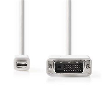 Nedis CCGP37700WT20 - Mini DisplayPort – DVI Kabel | Mini DisplayPort Zástrčka - DVI-D 24+1-Pin Zástrčka | 2 m | Bílá barva