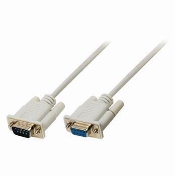 Nedis CCGP52010IV30 - Sériový Kabel | D-Sub 9-pin Zástrčka - D-Sub 9-pin Zásuvka | 3 m | Slonovinová