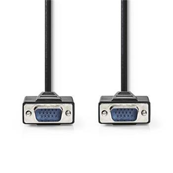 Nedis CCGP59000BK100 - Kabel VGA | VGA Zástrčka - VGA Zástrčka | 10 m | Černá barva