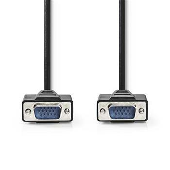 Nedis CCGP59000BK50 - Kabel VGA | VGA Zástrčka - VGA Zástrčka | 5 m | Černá barva