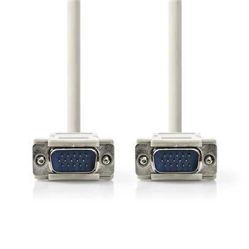 Nedis CCGP59001IV20 - Kabel VGA | VGA Zástrčka - VGA Zástrčka | 2 m | Slonovinová