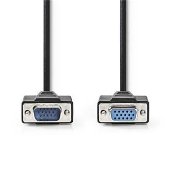 Nedis CCGP59100BK100 - Kabel VGA | VGA Zástrčka - VGA Zásuvka | 10 m | Černá barva