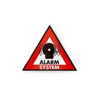 Nedis STCKWA105 - Výstražná Samolepka | Symbol Poplachového systému | Sada 5 kusů