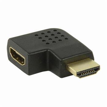 Nedis CVGP34903BK - Adaptér HDMI | HDMI Konektor - HDMI Zásuvka | Úhlová Levá | Černá barva