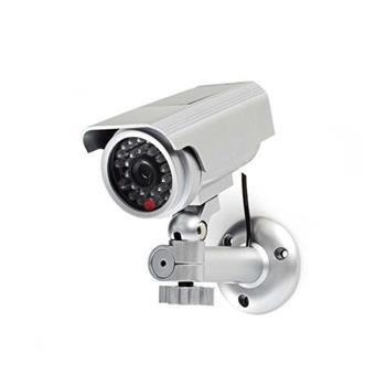 Nedis DUMCBS10SR - Atrapa Bezpečnostní Kamery | Válcové kamery | IP44 | Stříbrná