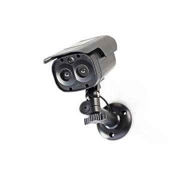Nedis DUMCBS30BK - Atrapa Bezpečnostní Kamery | Válcové kamery | IP44 | Černá barva