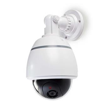 Nedis DUMCD50WT - Atrapa Bezpečnostní Kamery | Kamera s kopulovým krytem | IP44 | Bílá barva