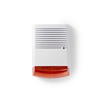 Nedis DUMSS20WT - Atrapa Bezpečnostní Sirény | IP44 | Bílá / Oranžová