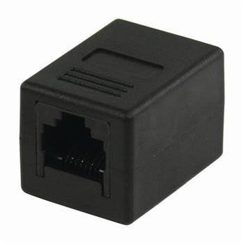 Nedis CCGP89000BK - Síťový Adaptér Cat 5 | RJ45 Zásuvka - RJ45 Zásuvka | Černá barva