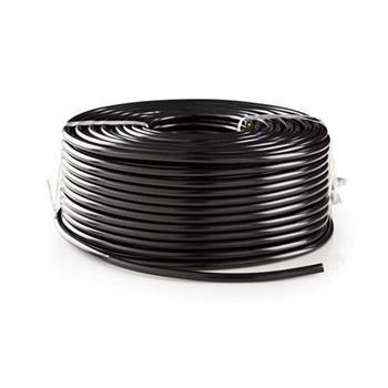 Nedis CCTVCA10BK999 - CCTV Bezpečnostní Kabel BNC / DC   RG59   100 m   konektory nejsou součástí balení