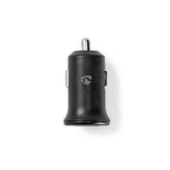 Nedis CCHAU240ABK - Nabíječka do Auta 12/24V | 2.4 A | 2 výstupy | USB-A | Černá barva