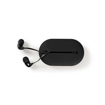 Nedis HPWD1020BK - Kabelová Sluchátka | In-ear | Cestovní pouzdro | Plochý Kabel 1,2 m | Černá barva