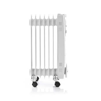 Nedis HTOI10EWT7 - Přenosný Olejový Radiátor | 1 500 W | Bílá barva