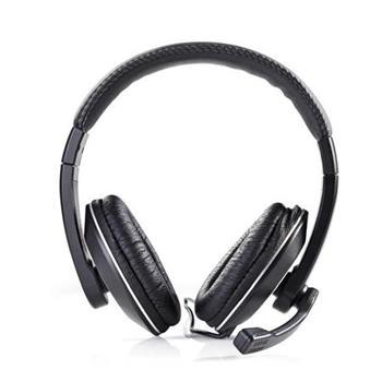 Nedis CHST200BK - Sluchátka k počítači   Over-ear   Mikrofon   Dvojitý Konektor 3,5mm