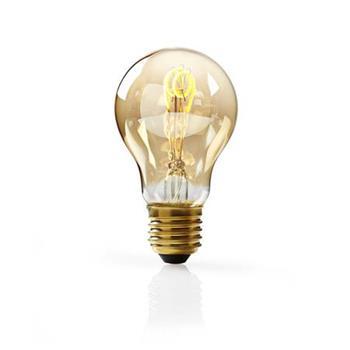 Nedis LEDBTFE27A60 - Stmívatelná LED Klasická Žárovka s Vláknem E27 | A60 | 3 W | 100 lm