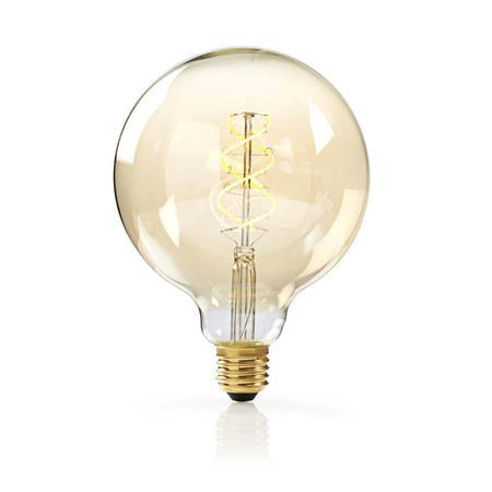 Nedis LEDBTFE27G125 - Stmívatelná LED Klasická Žárovka s Vláknem E27 | G125 | 5 W | 260 lm