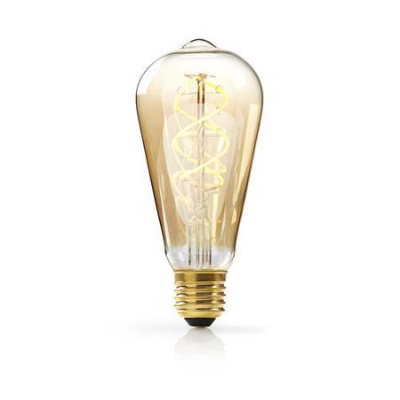 Nedis LEDBTFE27ST64 - Stmívatelná LED Klasická Žárovka s Vláknem E27 | ST64 | 5 W | 260 lm