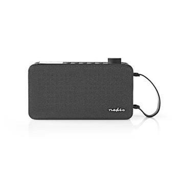 Nedis RDDB4300BK - Digitální Rádio DAB+ | 12 W | FM | Bluetooth® | Černá / Černá