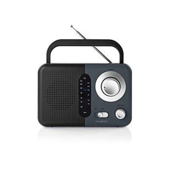 Nedis RDFM1300GY - FM Rádio | 2,4 W | Přenosná Rukojeť | Černá / Šedá