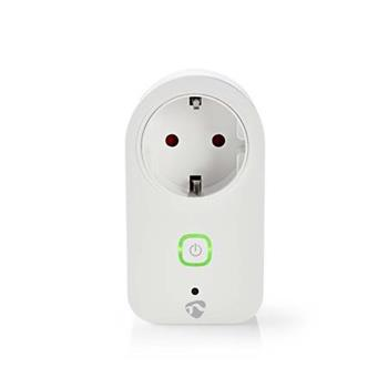 Nedis WIFIP120FWT - WiFi Chytrá Zástrčka | Monitor Napájení | Schuko Typ F | 16 A