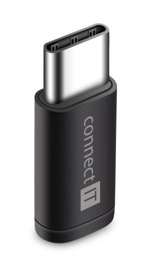 CONNECT IT Wirez adaptér USB-C -> Micro-USB, černý