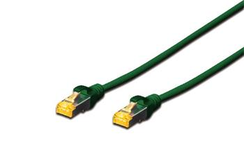 Digitus CAT 6A S-FTP patch cable, Cu, LSZH AWG 26/7, length 0.25 m, color green