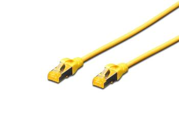 Digitus CAT 6A S-FTP patch cable, Cu, LSZH AWG 26/7, length 0.25 m, color yellow