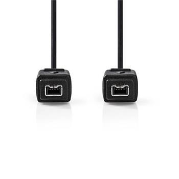 Nedis CCGP62000BK20 - Kabel FireWire | 4-pin Zástrčka - 4-pin Zástrčka | 2 m | Černá barva