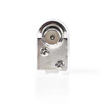 Nedis CSGP40901WT - IEC (Koaxiální) Úhlový Konektor | Zástrčka – Kulatý Design - 2 kusů | Bílá barva
