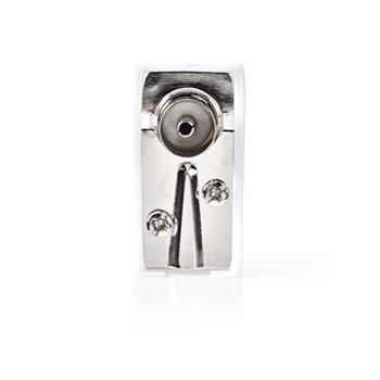 Nedis CSGP40920WT - IEC (Koaxiální) Úhlový Konektor | Zásuvka– Čtvercový Design - 2 kusů | Bílá barva