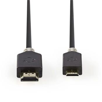 Nedis CVBP34500AT20 - Kabel High Speed HDMI™ s Ethernetem | Konektor HDMI™ - HDMI™ Mini Konektor | 2 m | Antracit