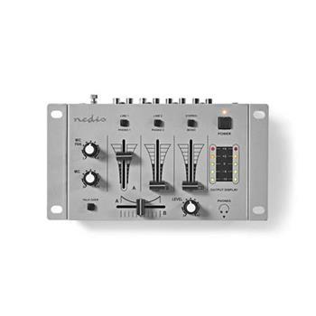 Nedis MIXD050GY - DJ Směšovač | 3 Stereo Kanály | Crossfader | Funkce Zpětné Komunikace