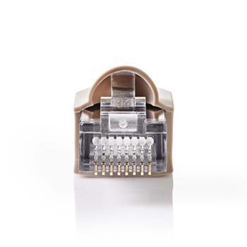 Nedis CCGP89350GY - Sada Síťových Konektorů   RJ45 Zástrčka + Ochranný Kryt Konektoru - Pro Pevné Kabely Cat 5 UTP   10 kusů   Šed