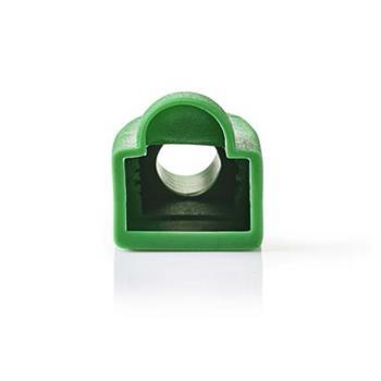 Nedis CCGP89900GN - Odlehčovací manžeta | Pro Síťové Konektory RJ45 - 10 kusů | Zelená
