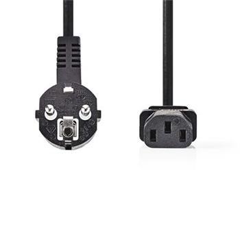 Nedis CEGP10015BK30 - Napájecí Kabel 3 x 1,5 mm2 | Úhlová zástrčka Schuko - IEC-320-C13 | 3 m | Černá barva