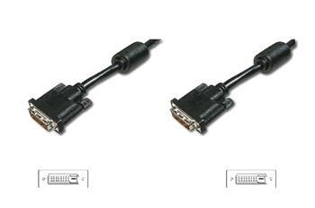 Digitus Připojovací kabel DVI, DVI (24 + 1), 2x ferit M / M, 10,0 m, DVI-D Dual Link, bl