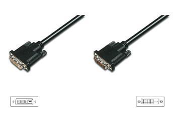 Digitus Prodlužovací kabel DVI, DVI (24 + 1) M / F, 3,0 m, DVI-D Dual Link, bl