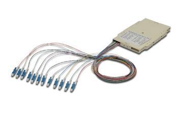 Digitus FO sestřihová kazeta s 12 barevnými Pigtaily LC (UPC), SM OS2 09/125 µ, LSZH