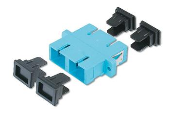 Digitus SC / SC Duplex Coupler, color aqua Zirconia Ceramic Sleeve, Plastic housing, Multimode,inc.fixing material