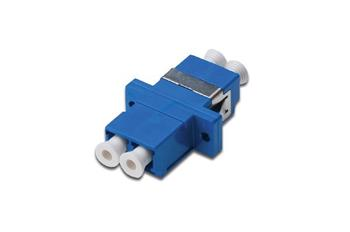 Digitus LC / LC Duplex Coupler, color blue Zirconia Ceramic Sleeve, polymer housing, Singlemode
