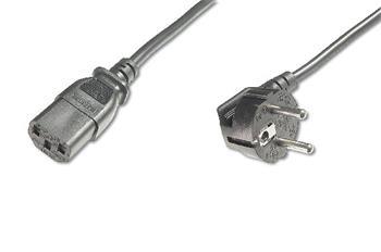 Digitus Power Cord, CEE 7/7 (Typ-F) 90o angled - C13 M/F, 0,75m, H05VV-F3G 0.75qmm, bl