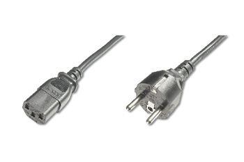 Digitus Power Cord, CEE 7/7 (Typ-F) - C13 M/F, 1.8m, H05VV-F3G 0.75qmm, bl